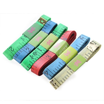 1.5m Color Plastic Small Tape Measure Flexible Ruler Clothing Sewing Clothing Market Ruler random color one size