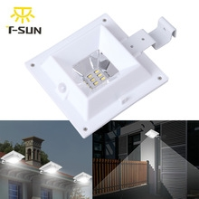 led light sensor control Solar Powered Fence Gutter Solar Lights Outdoor Security Solar Lamps white oen size 1w