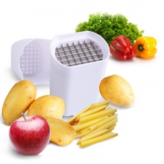Perfect Fries Potato Chips Fry Cutter Vegetable French Fry Cutter Vegetable Fruit Cutter Slicer Tool white one size