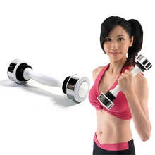Sports Women Shake Dumbbell Fitness Exercise Weight Gym Arm Chest Toning for Shaking Weight Keep white one size
