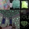 100Pcs Luminous Stars Wall Stickers Home Glow In The Dark Stars For Kids Fluorescent Stickers color one size