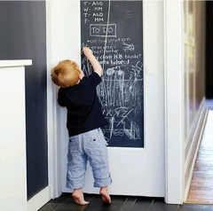 Wall Stickers Students Art Teaching Chalkboard Wall Sticker Erasable Blackboard black one size