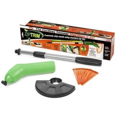 Protable Cordless Lawn Grass Trimmer Garden Edging Decor Tool Works With Standard Zip Ties green one size