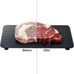 Tray Magic Metal Plate Defrosting Tray Safe Fast Thawing Frozen Meat Defrost Kitchen Tool black 35*19.7*0.3cm