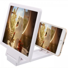 Screen Magnifier Eyes Protection Display 3D Video Screen Amplifier Folding Enlarged Expander Stand white one size