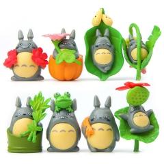 Totoro Jili cat Pumpkin Harvest Hand Micro landscape Gardening Succulents Landscaping Doll 8 set one size