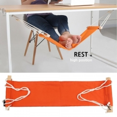 Portable table foot pedal hammock, Internet surfing relax legs orange one size