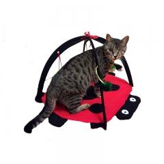 Foldable Multifunction Pet Cat tent Beetle Cat Playful bed Cat Amusement park red one size
