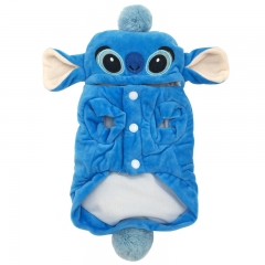 Creative Personality blue Stich Winter Models Dog Clothing dog Clothes pet Supplies blue xs