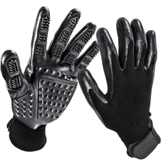 Pet Mane Massage Gloves Cat and dog clean tool Environmental protection Bathing Gloves black one size