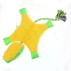 Dog Toy Green Turtle Voice Toy Knot Rope Plush toy green yellow one size