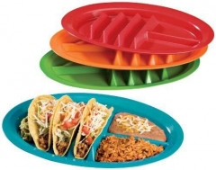 Plastic Plate Kitchen Supplies Pizza tray Bread tray Western style Sushi Plate Intestine Powder tray 4 set one size