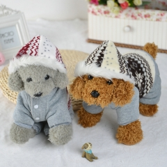 Snowflake Pet Clothes Teddy Dog Clothes Pet Transformed Dress gray s
