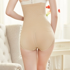 Ms seamless Lace Slimming Anti-roll Waist Panties Postpartum Body sculpting Abdomen Panties color XL/XXL