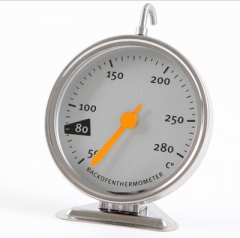 Baking Tools Kitchen Oven Thermometer Food Meat Dial Gauge Dedicated Mechanical 50-280 Degrees silver one size