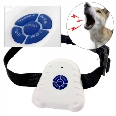 Collars Anti-dog Called Training Small Dogs Ultrasound Stop Barking Device automatic dog training white one size