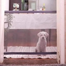 Magic-Gate Dog Pet Fences Portable Folding Safe Guard Indoor and Outdoor Safety Magic Gate black 1.1M*72CM