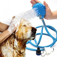 Comfortable Massager Shower Tool Cleaning Washing Bath Sprayers Palm-Sized Dog Scrubber Sprayer Hand blue one size