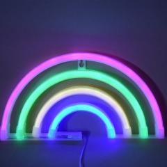 Rainbow Bell Batman Cactus Neon led Decorative lights festival Night light 1 one size 1w