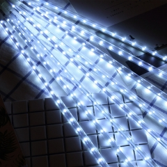 led Patch outdoor waterproof Meteor lamp Curtain light Christmas festival Decorative lights white hollow 30CM 8set
