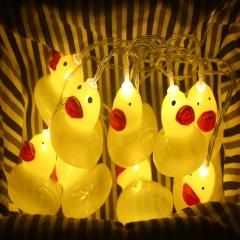 led Star light Lantern dream Teenage heart room Little yellow duck animal modeling Decorative lights yellow battery 1.5 m 10 lights