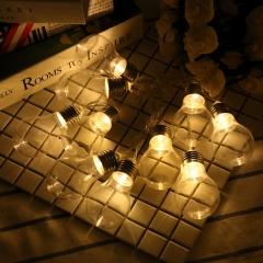 led Retro light bulb Lantern Flashing light Home bedroom wedding Christmas day Decorative lights warm white one size 1.5 m 10 lights