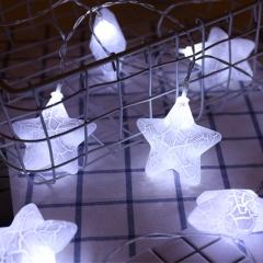 led crack Pentagram Ball light Gypsophila Shooting Prop Flashing string white battery 1.5 m 10 lights