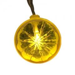 Lemon Slices String light Room Arrange Night light fruit Modeling lamp Party decoration Lantern yellow one size 1 m 10 lights