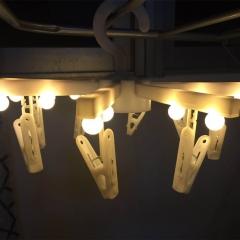 Foldable Hanger light led photo Clip Lantern Gypsophila bedroom Decorative string white one size 1w