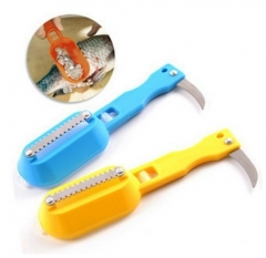Kitchen tool Fish scale Planing scraper Go to the scales Multifunction Fish scale Scraping random color one size