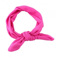 8 colors elastic fabric baby Headband  baby Headwear lovely Bow child Hair accessories rose red