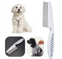 Pet Dog Cat Flea comb pet Beauty comb Hair removal Hair comb white one size