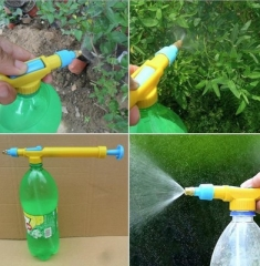 Plastic Trolley Gun Pressure Bottle Sprayer Head PP Hand For Coca cola Pepsi Fanta Sprite Bottle yellow one size