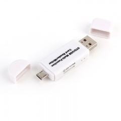 3 In 1 OTG Card Reader High-speed USB2.0 Universal OTG TF/SD for Android Computer Extension Headers white micro sd one size one size