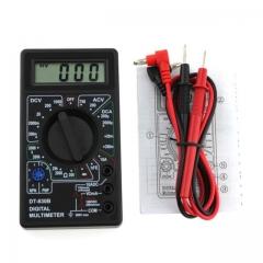 LCD Digital DT-830B Voltmeter Ohmmeter Ammeter Multimeter Handheld Tester  AC DC home tester black one size