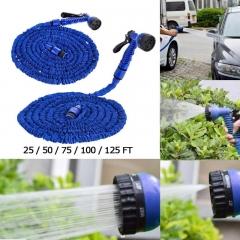 Garden hose set spray gun for watering magic flexible hose garden hose car hose watering gun blue 25FT