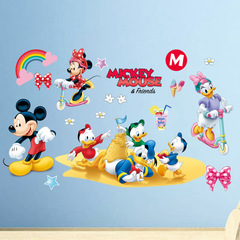 Mickey Mouse Stick to the heart Disney Wall Sticker Mickey Minnie Sticker Children's room decoration 1 one size
