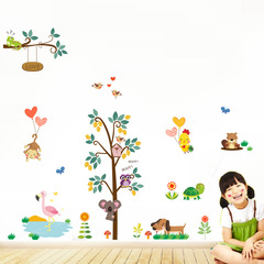 owl monkey digital Children's room kindergarten surroundings Arrange Sticker Wall sticker 1 one size