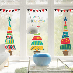 Creative The New Christmas tree Wall Sticker color Decorative stickers festival Supplies 1 one size