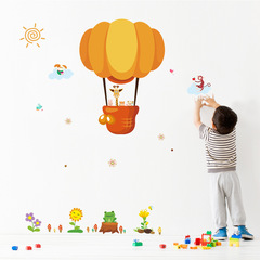 The New hot air balloon giraffe Children's room kindergarten surroundings Arrange Wall Sticker 1 one size