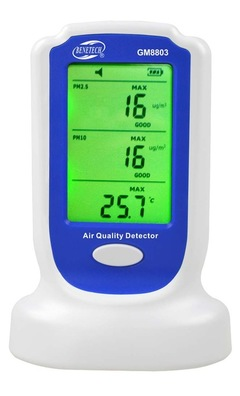 GM8803 Digital PM2.5 PM10 air quality pollution detector monitor sensor air quality detector white