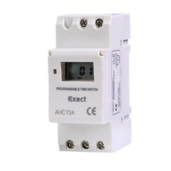 24V 12V AHC15A THC15A Din Rail Digital Timer Time Switch Relay Daily/Weekly Programmable white