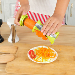 Creative kitchen Multifunction Wire cutter spiral funnel Wire cutter Rotate Grater random color one size