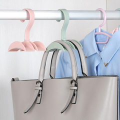 Creative Rotate Storage rack wardrobe Nailless hook up Bag rack Clothes hook random color one size