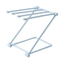 Foldable Vertical rag kitchen towel Hanger Punch free mesa Storage rack blue one size