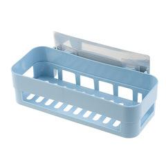 No trace Suction wall Shelf Washing Supplies Storage shelf bathroom Storage rack blue one size