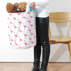 Foldable waterproof Dirty hamper Household large toy Dirty clothes Storage basket white one size