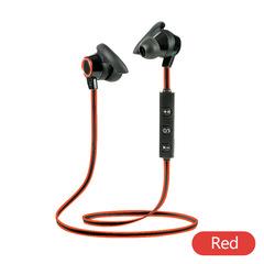 AMW-810 Sports Bluetooth Headphone Sweatproof Earphones Noise Cancelling Earpiece Wireless Headset black red one size