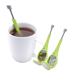 Creative Monster Tea Strainer Silicone Tea Filter Leaf Infuser Convenient Spice Drinking Tool green one size