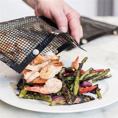Non-Stick Mesh Grilling Bag Non-Stick BBQ Bake Bag Outdoor Picnic Tool bbq burner black 22*27CM